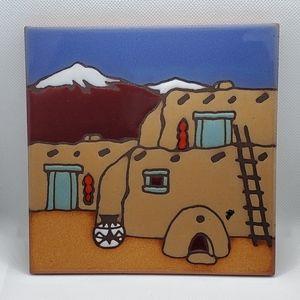 SOLD▪︎Masterworks Art Trivet Indigenous Village
